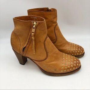 Blackstone Ember Tan Studded Leather Booties